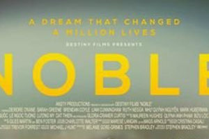 Noble, 2014 - property of Destiny Films - movie poster - from http://www.shescribes.com/2016/04/movie-review-noble.html
